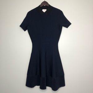 Kate Spade Navy Blue Peter Pan Collar Dress Medium